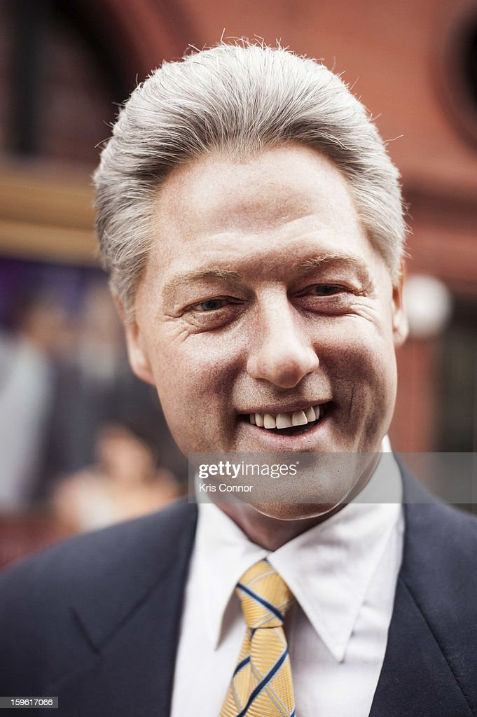 A wax figure of former President <a gi-track='captionPersonalityLinkClicked' href=/galleries/search?phrase=Bill+Clinton&family=editorial&specificpeople=67203 ng-click='$event.stopPropagation()'>Bill Clinton</a> during Madame Tussauds DC Presidential Wax Figures Bus Tour on January 17, 2013 in Washington, United States.