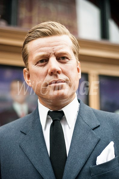 bda2c247894 Wax figure of former President John F Kennedy during Madame Tussauds ...
