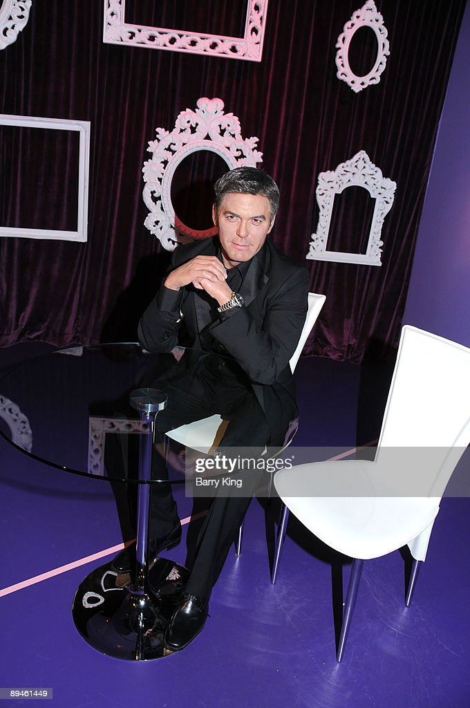 A wax figure of <a gi-track='captionPersonalityLinkClicked' href=/galleries/search?phrase=George+Clooney&family=editorial&specificpeople=202529 ng-click='$event.stopPropagation()'>George Clooney</a> is displayed at Madame Tussaud's Wax Museum on July 29, 2009 in Hollywood, California.