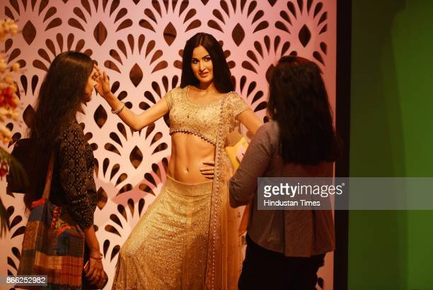 Wax figure of Indian actress Katrina Kaif displayed at Madame Tussauds Museum situated in Regal Cinema building during its Press preview on October...