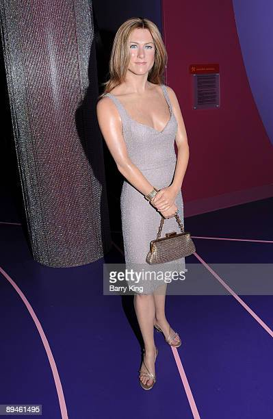 A wax figure of Jennifer Aniston is displayed at Madame Tussaud's Wax Museum on July 29 2009 in Hollywood California