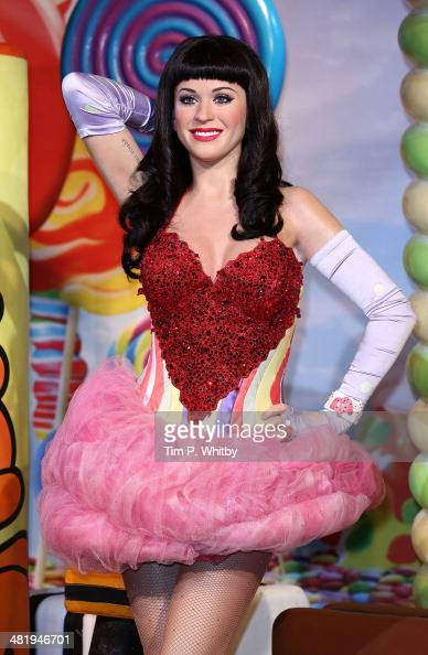 A wax figure of Katy Perry is unveiled at Madame Tussauds on April 2 2014 in London England
