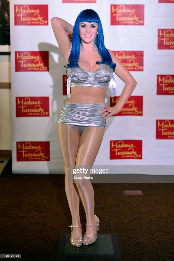 A wax figure of <a gi-track='captionPersonalityLinkClicked' href=/galleries/search?phrase=Katy+Perry&family=editorial&specificpeople=599558 ng-click='$event.stopPropagation()'>Katy Perry</a> is unveiled by Madame Tussauds Las Vegas at Paramount Studios on January 26, 2013 in Hollywood, California.
