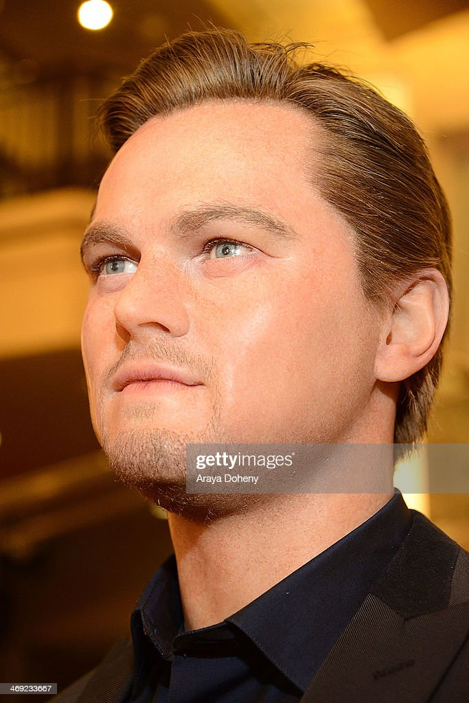 A wax figure of Leonardo DiCaprio at the Madame Tussauds Hollywood Unveils Sandra Bullock Wax Figure event at Madame Tussauds on February 13, 2014 in Hollywood, California.