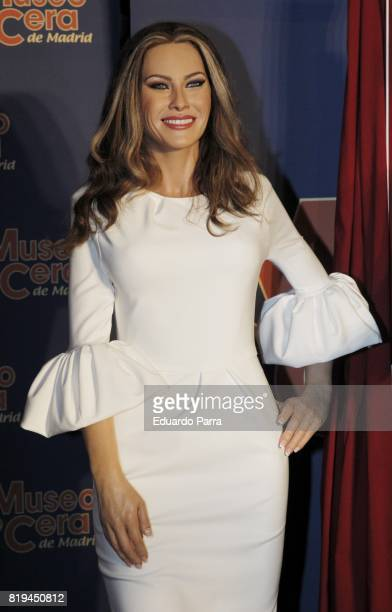 A wax figure of Melania Trump is displayed at the Wax Museum on July 20 2017 in Madrid Spain