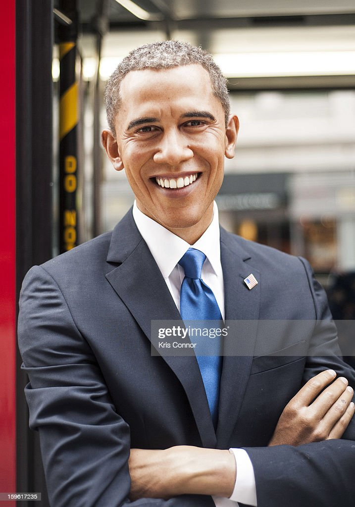 Wax figure of President <a gi-track='captionPersonalityLinkClicked' href=/galleries/search?phrase=Barack+Obama&family=editorial&specificpeople=203260 ng-click='$event.stopPropagation()'>Barack Obama</a> during Madame Tussauds DC Presidential Wax Figures Bus Tour on January 17, 2013 in Washington, United States.