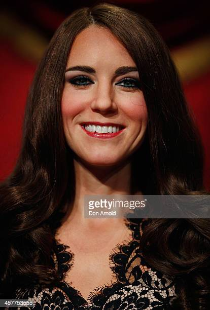 A wax figure of Princess Catherine is seen at Maddam Tussauds on December 19 2013 in Sydney Australia