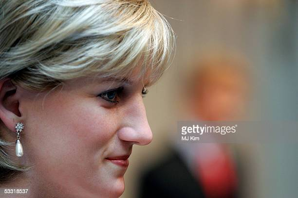 A wax figure of Princess Diana is seen during the official Madame Tussauds' wax effigy of HRH Prince William is unveiled at London's Marylebone Road...