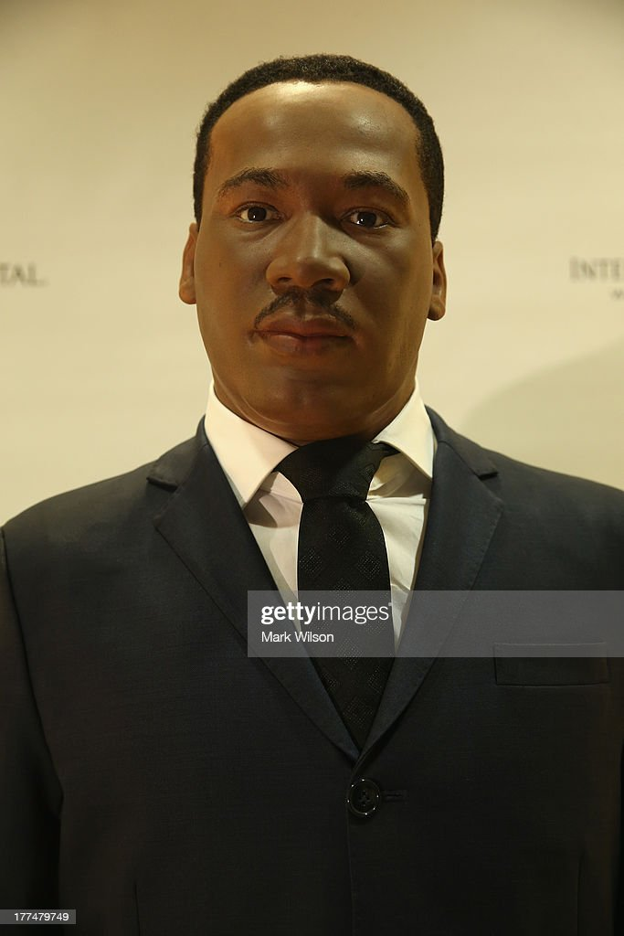 A wax figure of Rev. Martin Luther King Jr. is on display at the Willard Intercontinental Hotel August 23, 2013 in Washington, DC. The wax figure is on loan from Madame Tussauds to help commemorate the 50th anniversary of the March on Washington.