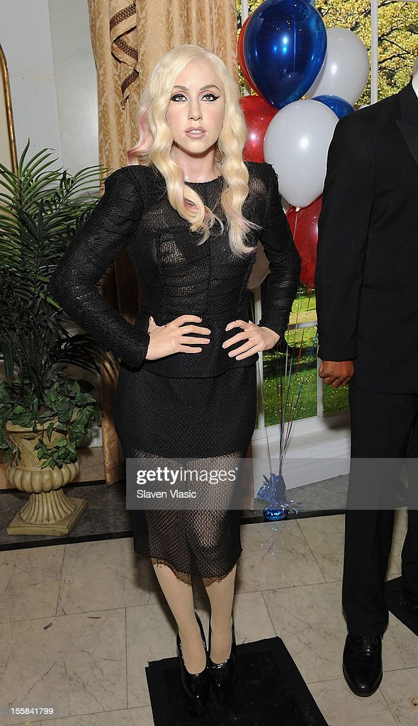 Wax figure of singer Lady Gaga is displayed as Madame Tussauds New York Celebrates President Barack Obama Reelection at Madame Tussauds on November 8, 2012 in New York City.