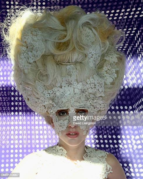 A wax figure of singer Lady Gaga is displayed at Madame Tussauds on January 6 2014 in Hollywood California