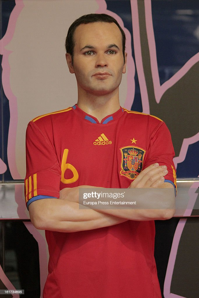 A wax figure of Spanish football player <a gi-track='captionPersonalityLinkClicked' href=/galleries/search?phrase=Andres+Iniesta&family=editorial&specificpeople=465707 ng-click='$event.stopPropagation()'>Andres Iniesta</a> on February 14, 2013 in Madrid, Spain.
