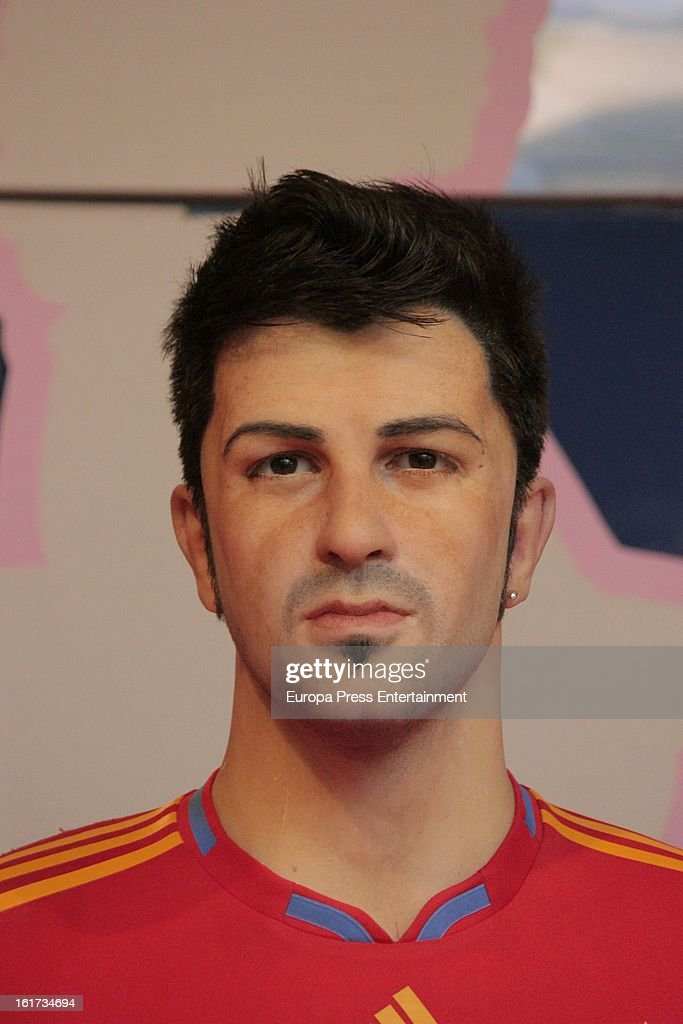 A wax figure of Spanish football player <a gi-track='captionPersonalityLinkClicked' href=/galleries/search?phrase=David+Villa&family=editorial&specificpeople=467566 ng-click='$event.stopPropagation()'>David Villa</a> on February 14, 2013 in Madrid, Spain.
