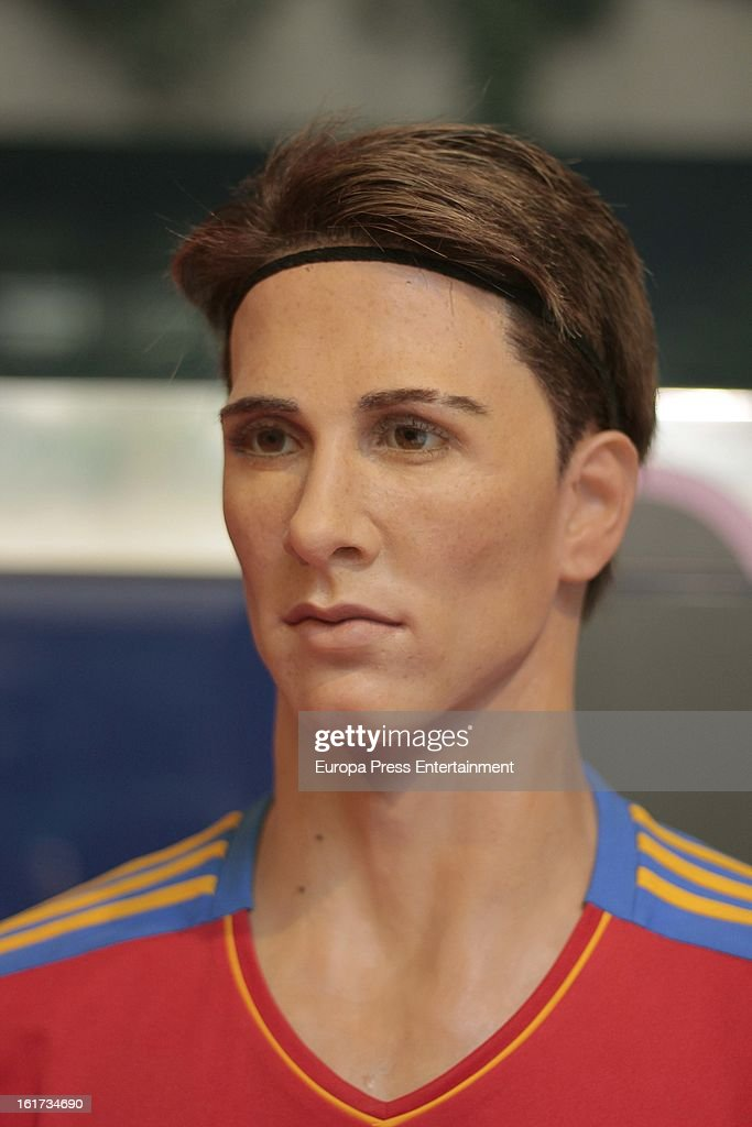 A wax figure of Spanish football player Fernando Torres on February 14, 2013 in Madrid, Spain.