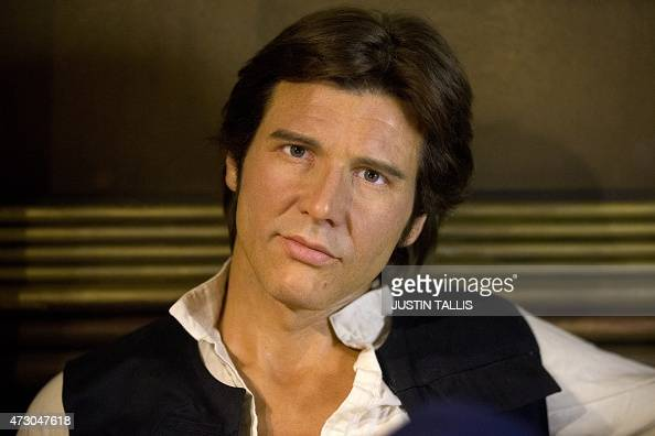 A wax figure of Star Wars character Han Solo sitting in a booth at the Star Wars At Madame Tussauds attraction in London on May 12 2015 AFP...