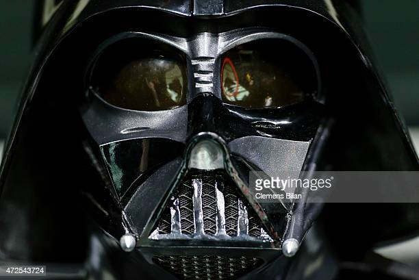 A wax figure of the Star Wars characters Darth Vader is displayed on the occasion of Madame Tussauds Berlin Presents New Star Wars Wax Figures at...