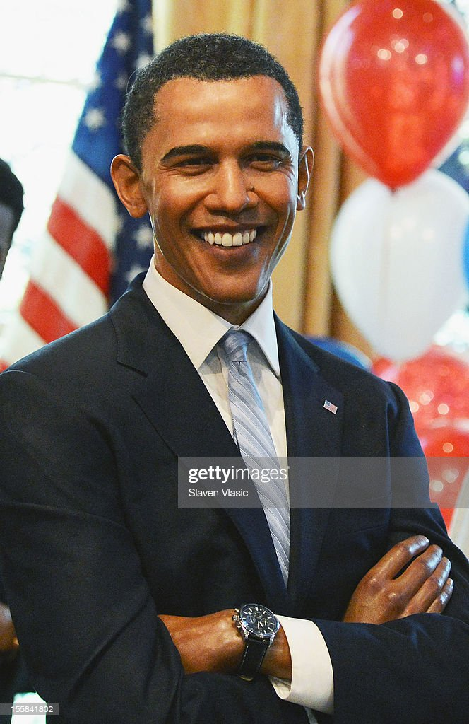 A wax figure of U.S. President Barack Obama is seen as Madame Tussauds New York Celebrates President Barack Obama Reelection at Madame Tussauds on November 8, 2012 in New York City.