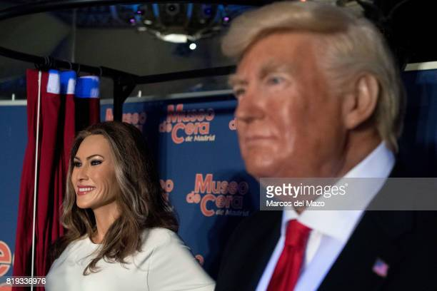 Wax figure of USA First Lady Melania Trump is presented in the Wax Museum