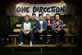 Wax figures of British pop band One Direction are displayed during a photocall at Madame Tussaud's in central London on August 6 2014 to highlight...
