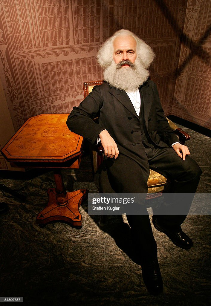 A wax model of Karl Marx is displayed in the Berlin Branch of Madame Tussauds on July 3 in Berlin Germany The famous Madame Tussauds wax figure...
