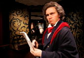 A wax model of Ludwig van Beethoven is displayed in the Berlin Branch of Madame Tussauds on July 3 in Berlin Germany The famous Madame Tussauds wax...