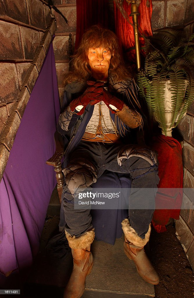 A wax replica of actor Ron Perlman in the CBS television show 'Beauty and the Beast' is on display at the Hollywood Wax Museum August 28 2001 in...
