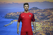 A wax statue representing Portugese forward Cristiano Ronaldo is displayed at the new location of the CR7 museum dedicated to Ronaldo's professional...