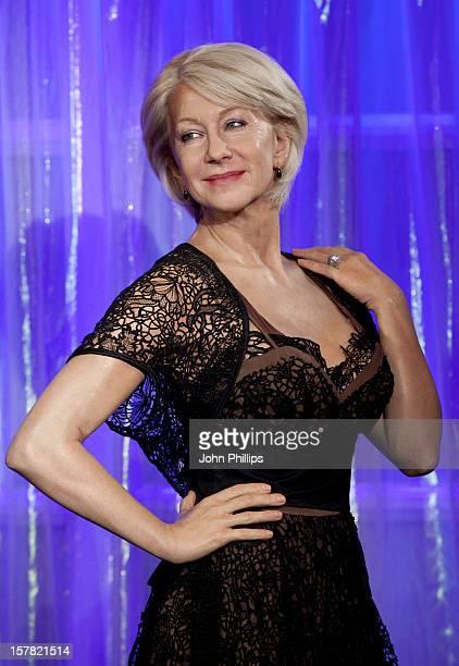 Waxwork Model Of Dame Helen Mirren During The Madame Tussauds Award Season Photocall At Madame Tussauds In London
