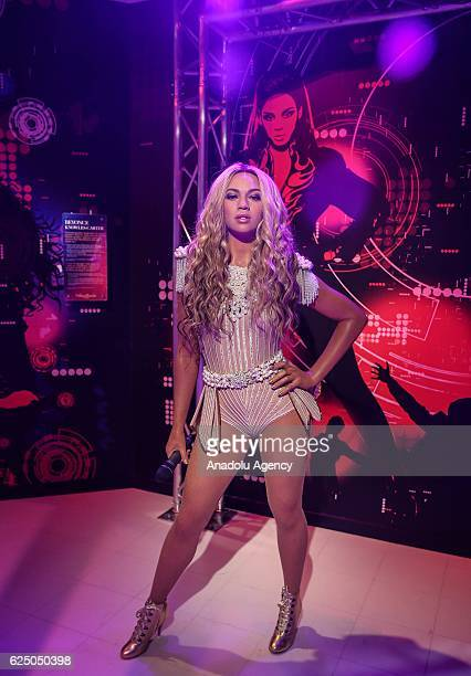 Waxwork of American singer Beyonce on display at the world's 21st and Turkey's first Madame Tussauds wax museum which will be opened on November 28...