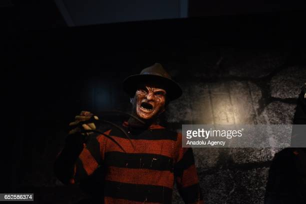 Waxwork of horror movie character 'Freddy Krueger' on display at Dreamland Wax Museum in Rio de Janeiro Brazil on March 11 2017