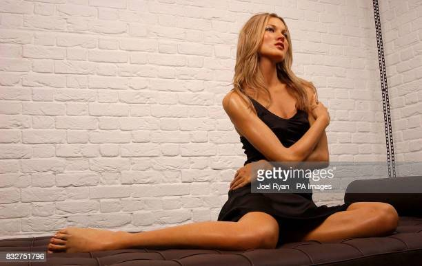 A waxwork of supermodel Kate Moss is unveiled at Madame Tussauds in central London The global star dressed the figure herself