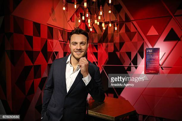Waxwork of Turkish actor Kerem Bursin on display at the world's 21st and Turkey's first Madame Tussauds wax museum which will be opened on November...