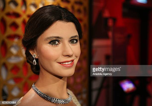 Waxwork of Turkish actress Beren Saat on display at the world's 21st and Turkey's first Madame Tussauds wax museum which will be opened on November...