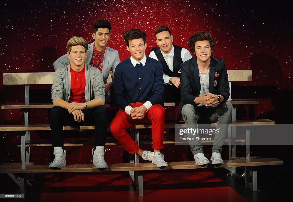 Waxworks of One Direction are unveiled at Madame Tussauds on April 18, 2013 in London, England.