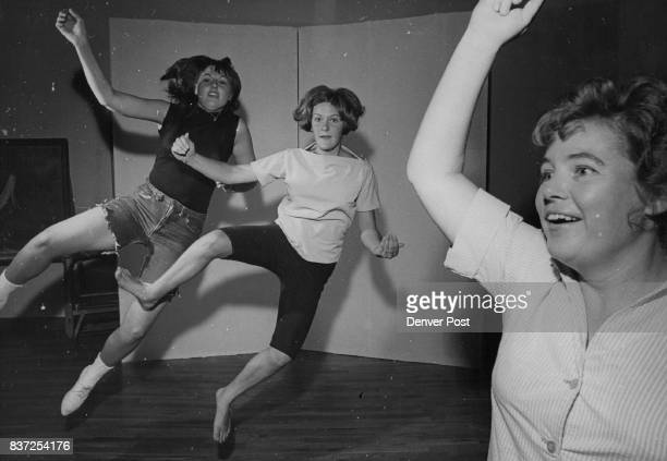 JUL 14 1965 JUL 21 1965 'Way Out West' routine in 'Babes in Arms' features Annette Per­kins Glenna Newcomb and Shelagh Montes There are 40 persons...