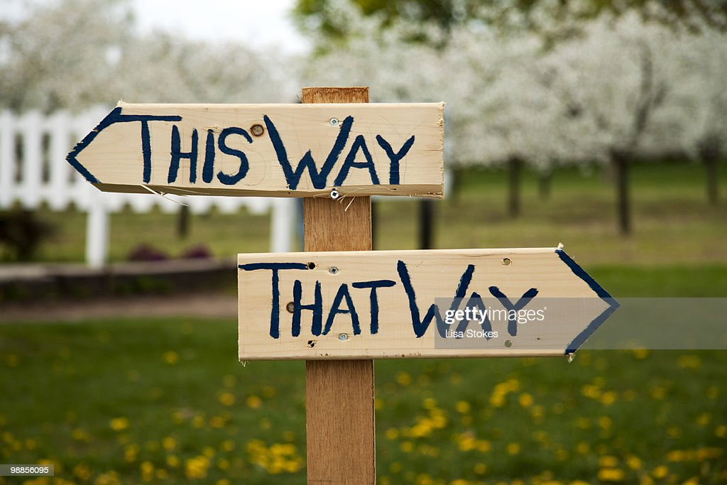 Way sign 'This Way, That Way' : Stock Photo