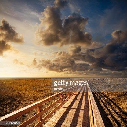 Way to Horizon : Stock Photo
