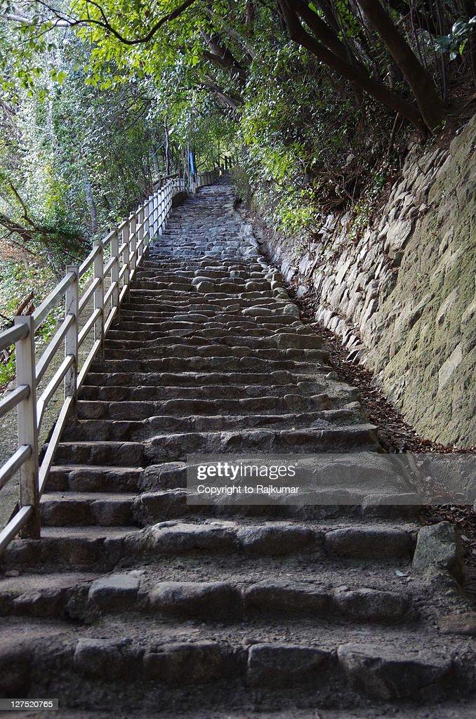Way to Nunobuki falls : Stock Photo