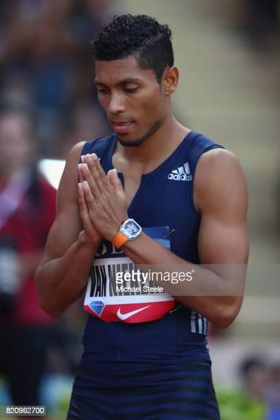 Wayde van Niekerk of South Africa ahead of his 400m men's race during the IAAF Diamond League Meeting Herculis on July 21 2017 in Monaco Monaco