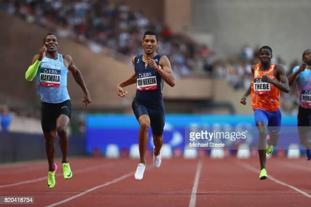 Wayde van Niekerk wins the 400m from Isaac Makwala of Botswana during the IAAF Diamond League Meeting Herculis on July 21 2017 in Monaco Monaco