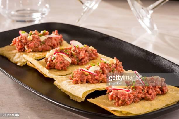 Waygu beef tartar