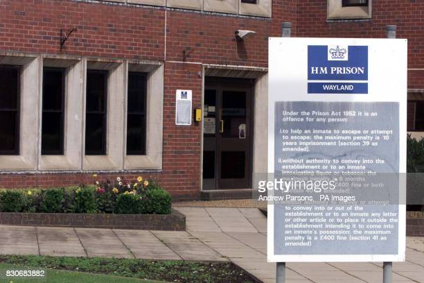 HMP Wayland The Category C jail Wayland prison near Thetford Norfolk to where disgraced peer Lord Archer got transferred after spending three weeks...