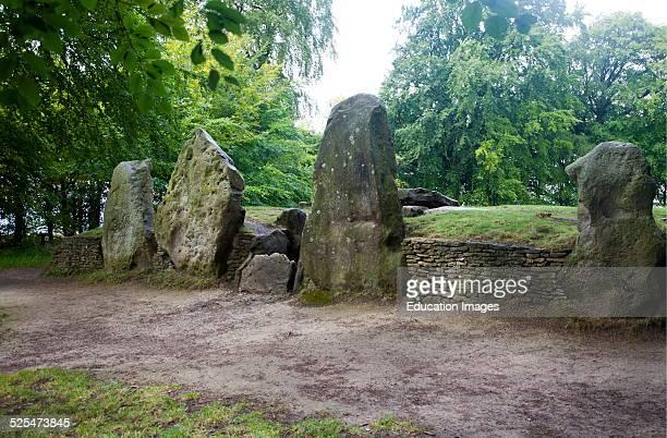Wayland´s Smithy is an historic Neolithic chambered long barrow on the Ridgeway near Ashbury Oxfordshire England