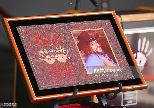 Waylon Jennings Atmosphere during Kris Kristofferson and Waylon Jennings Inducted into Hollywood Rockwalk July 6 2006 at Guitar Center in Hollywood...
