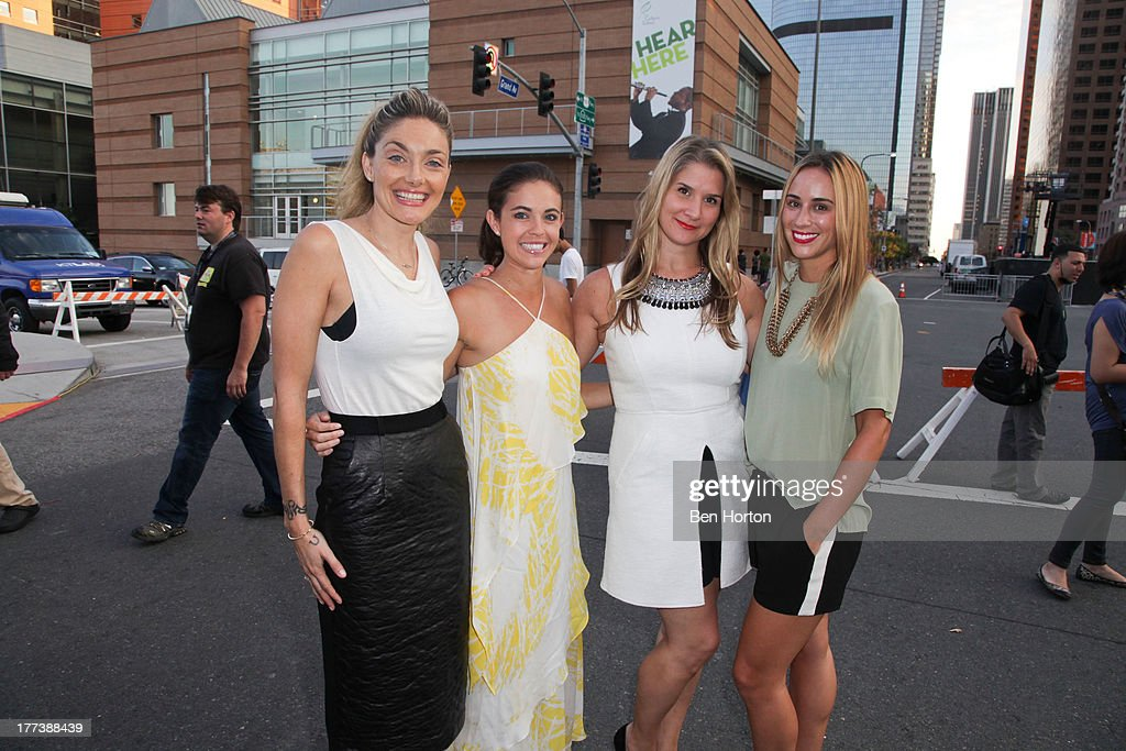 Waylynn Lucas, Jessica Miller, Brenda Urban, and Kat Odell attend the Festa Italiana with Giada de Laurentiis opening night celebration of the third annual Los Angeles Food & Wine Festival on August 22, 2013 in Los Angeles, California.