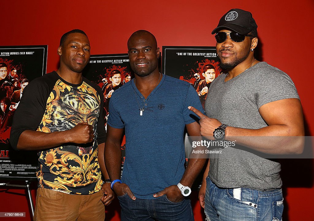 Wayne Barrett, Uriah Hall and Jarrell 'Big Baby' Miller attends 'The Raid 2' special screening at Sunshine Landmark on March 17, 2014 in New York City.