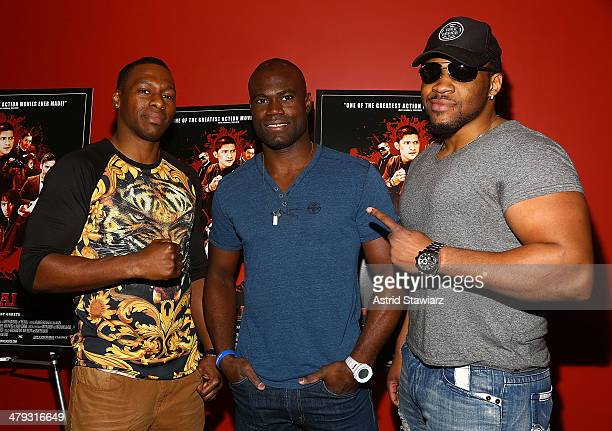 Wayne Barrett Uriah Hall and Jarrell 'Big Baby' Miller attends 'The Raid 2' special screening at Sunshine Landmark on March 17 2014 in New York City