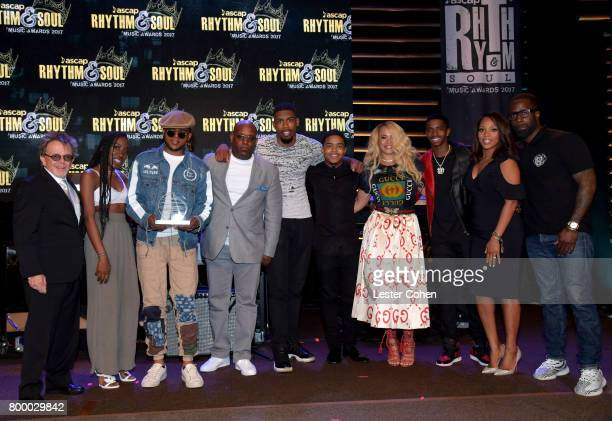 Wayne Barrow T'yanna Wallace Faith Evans Justin Combs CJ Wallace and Christian Combs ASCAP President Paul Williams and Vice President Rhythm Soul/...