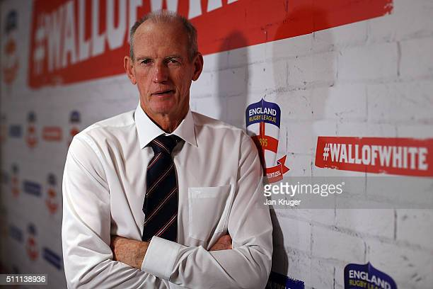 Wayne Bennett the newly appoint England rugby league coach poses on February 18 2016 in Manchester England