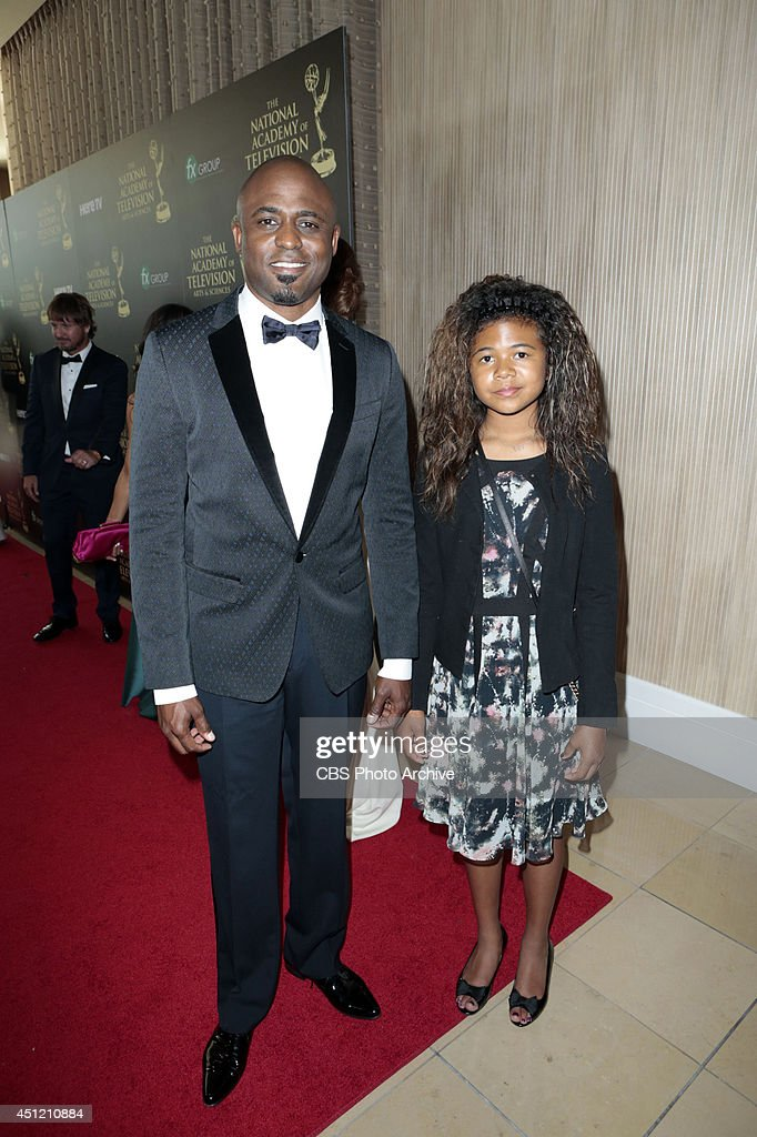 Wayne Brady and daughter on the red carpet at The 41st Annual Daytime Entertainment Emmy® Awards.